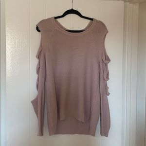Express cut out sleeve sweater